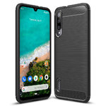Flexi Slim Carbon Fibre Case for Xiaomi Mi A3 - Brushed Black